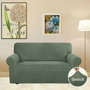 Terrific Greyish Green Loveseat Slipcover Nwt Unemploymentrelief Wooden Chair Designs For Living Room Unemploymentrelieforg
